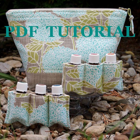 PDF Pattern & Tutorial ~ Essential Oil Bag ~ Total of 16 Padded Pockets ~ for PERSONAL USE Only