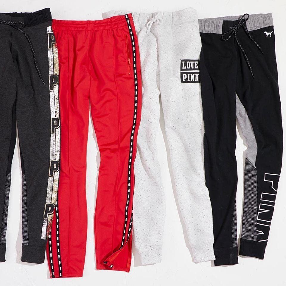 f7d3a216bf033 PINK: Track Pants and Joggers!   Loungin'   Pink outfits, Pink ...