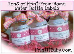 Printable Water Bottle Joint Juice Labels For Madie Princess - Mini water bottle label template