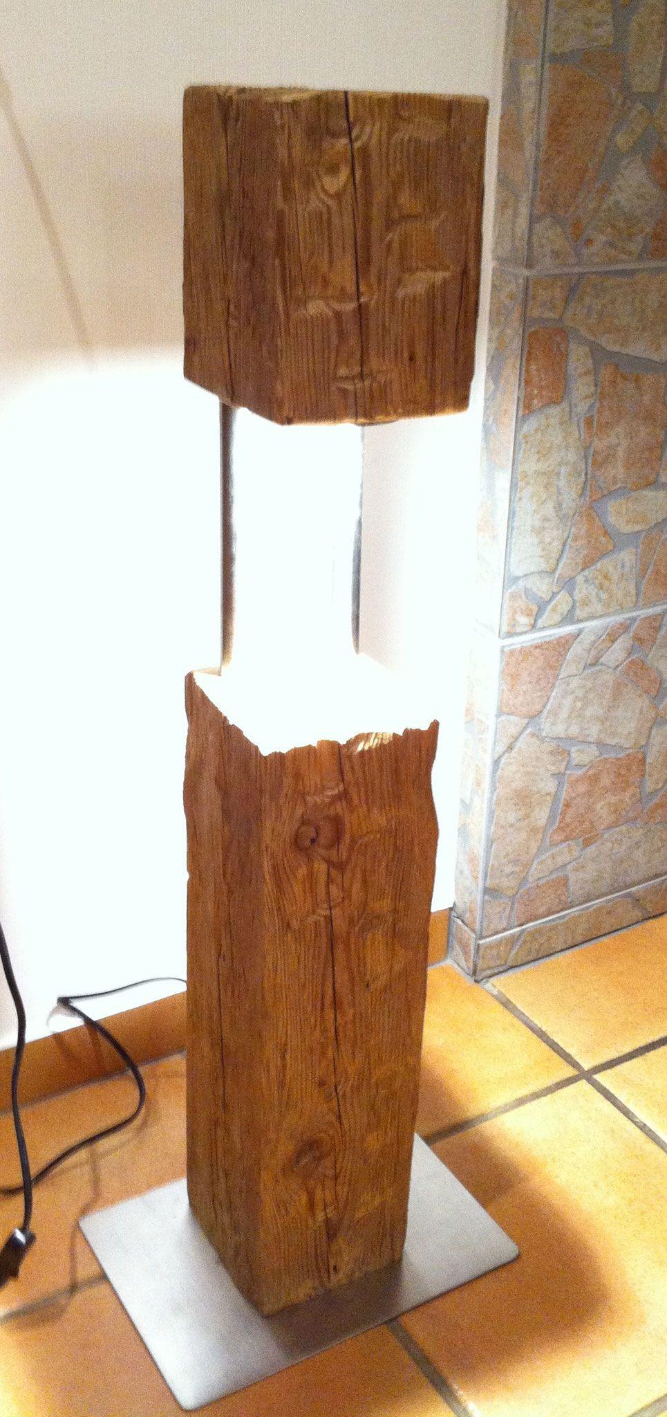 lampen aus alten eichenbalken