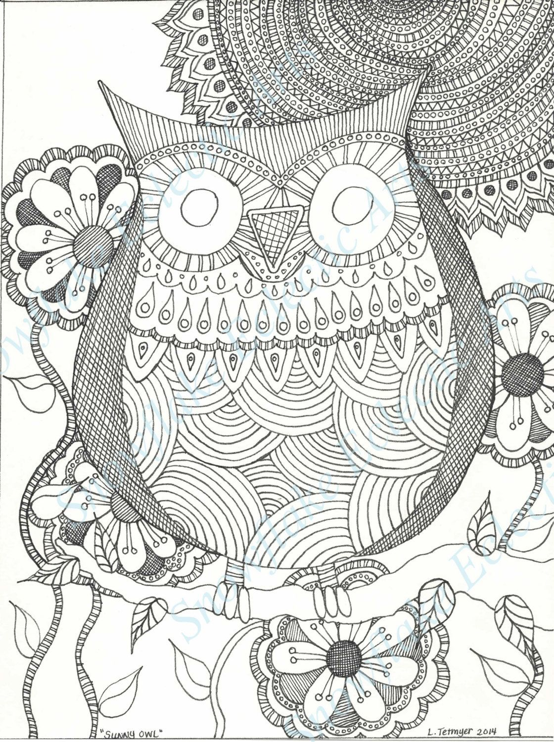 DIY COLORING Page - Instant PDF Digital Download - Printable ...