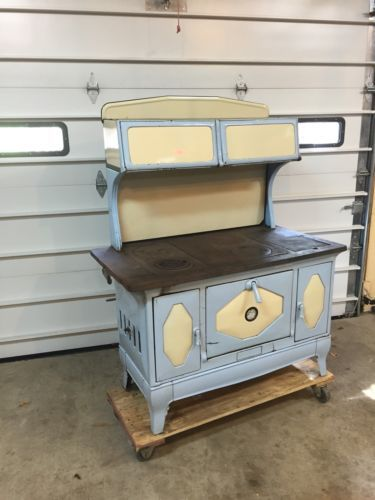 PRESIDENT-KALAMAZOO-WORKING-KITCHEN-COOK-STOVE-BLUE-amp