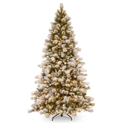 7 5 Ft Snowy Westwood Pine Hinged Pre Lit Full Christmas Tree Swp3 307 75 Full Christmas Tree Pine Christmas Tree Artificial Tree
