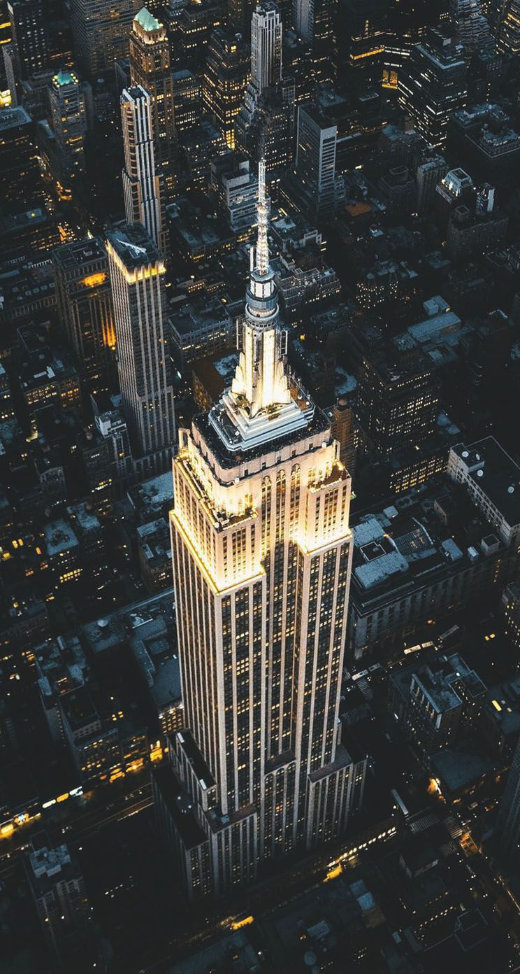 Night View Of Empire State Building Iphone Wallpaper Empire State Building Empire State New York Wallpaper