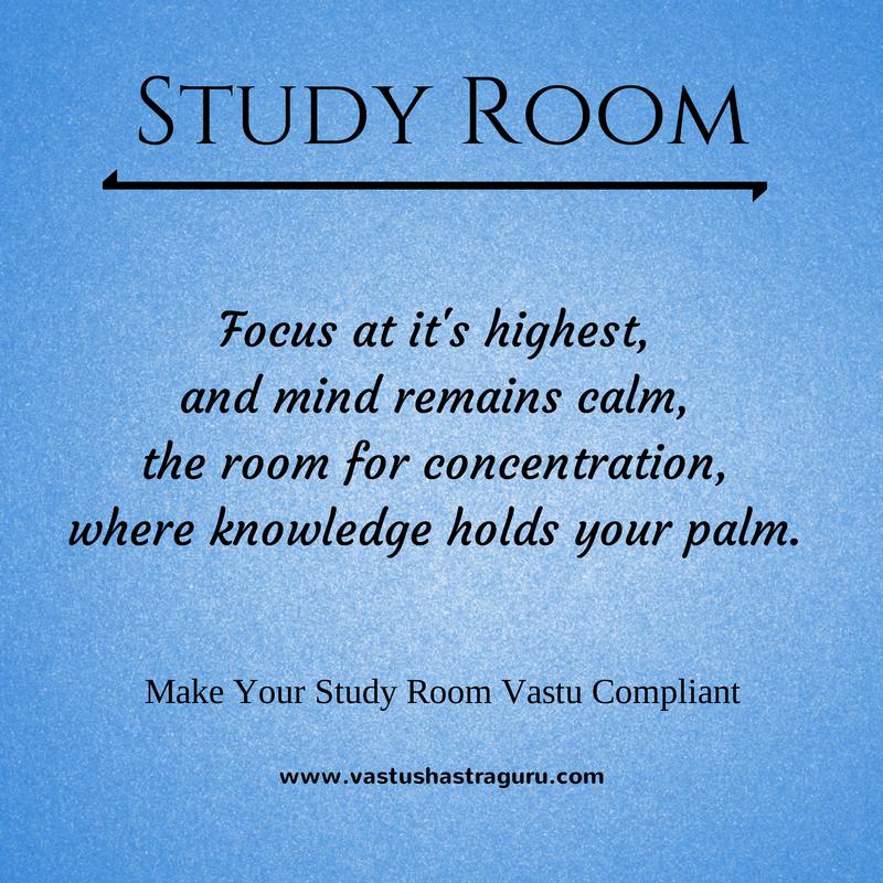 Importance of study room vastu shastra. Study room demands ...