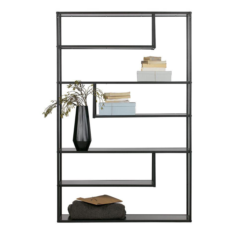 Design Bücherregal in Schwarz Metall Jetzt bestellen unter: https ...