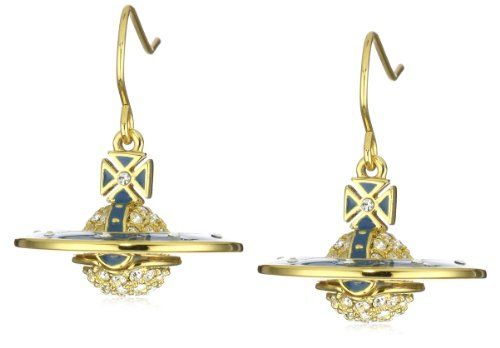 Vivienne Westwood Pave 3D Blue Earrings