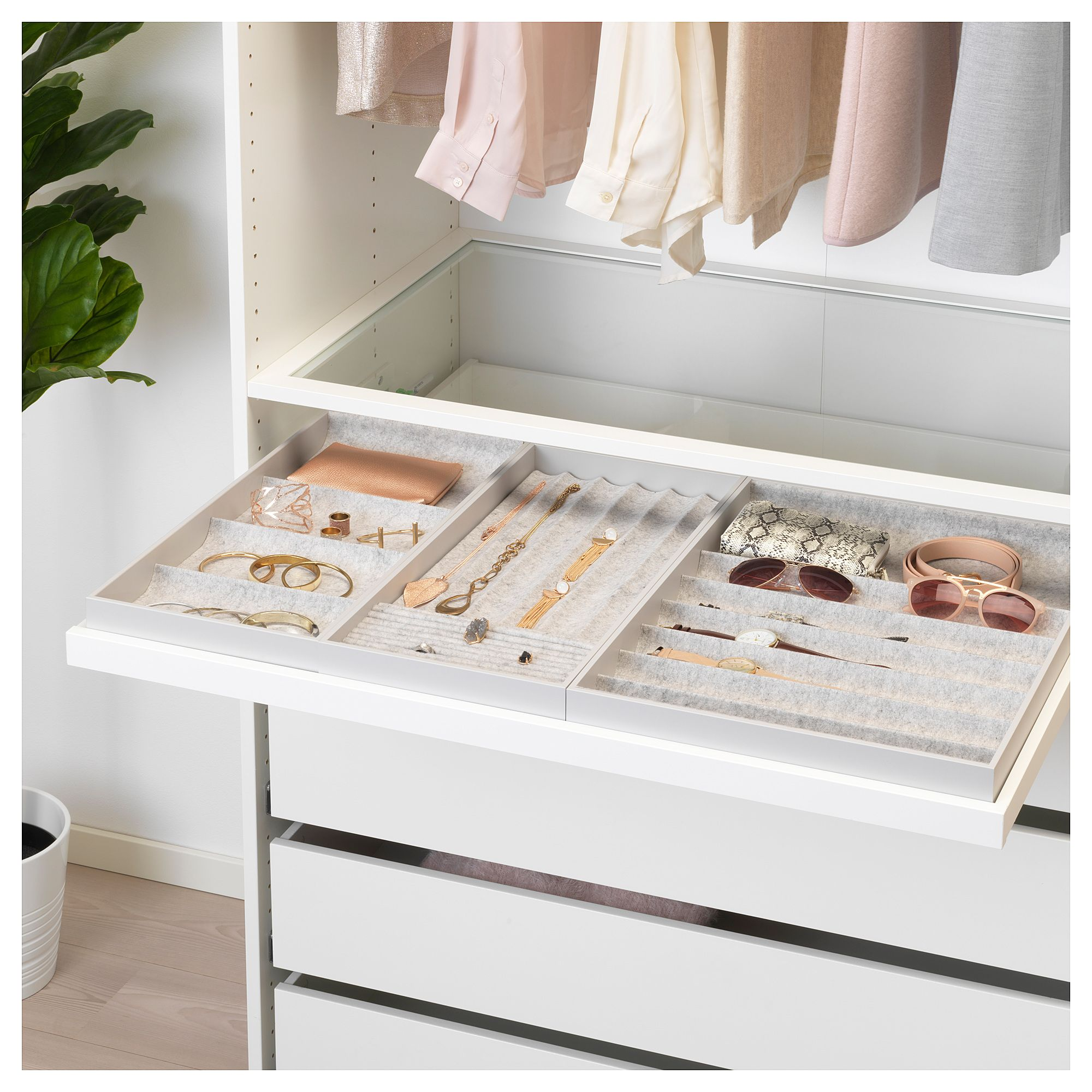Komplement Pull Out Tray With Insert White 39 3 8x22 7 8