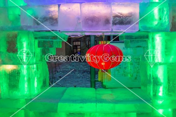 Framed lantern in ice – Download for free on CreativityGems