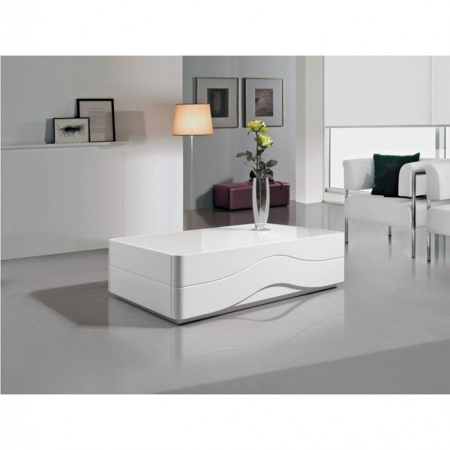 White Gloss Square Coffee Table : Luxury Modern White Gloss Designer Coffee  Table White Glass Top Gual