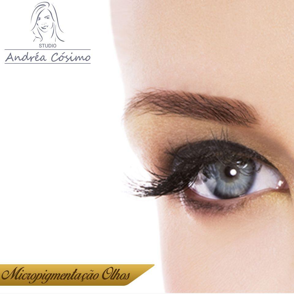 Micropigmentação nos olhos.