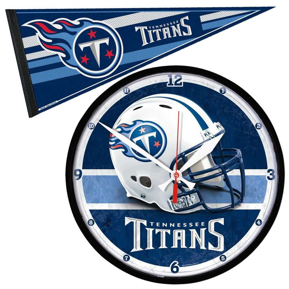 Tennessee titans nfl round wall clock and pennant gift set tennessee titans nfl round wall clock and pennant gift set amipublicfo Gallery