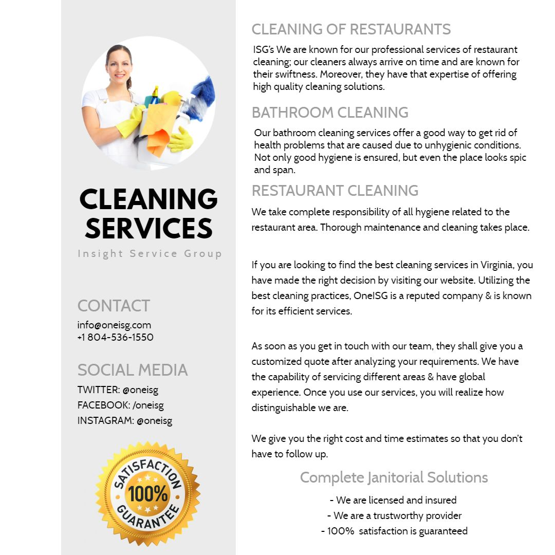 Commercial Cleaning Services In Virginia By Insight Service Group
