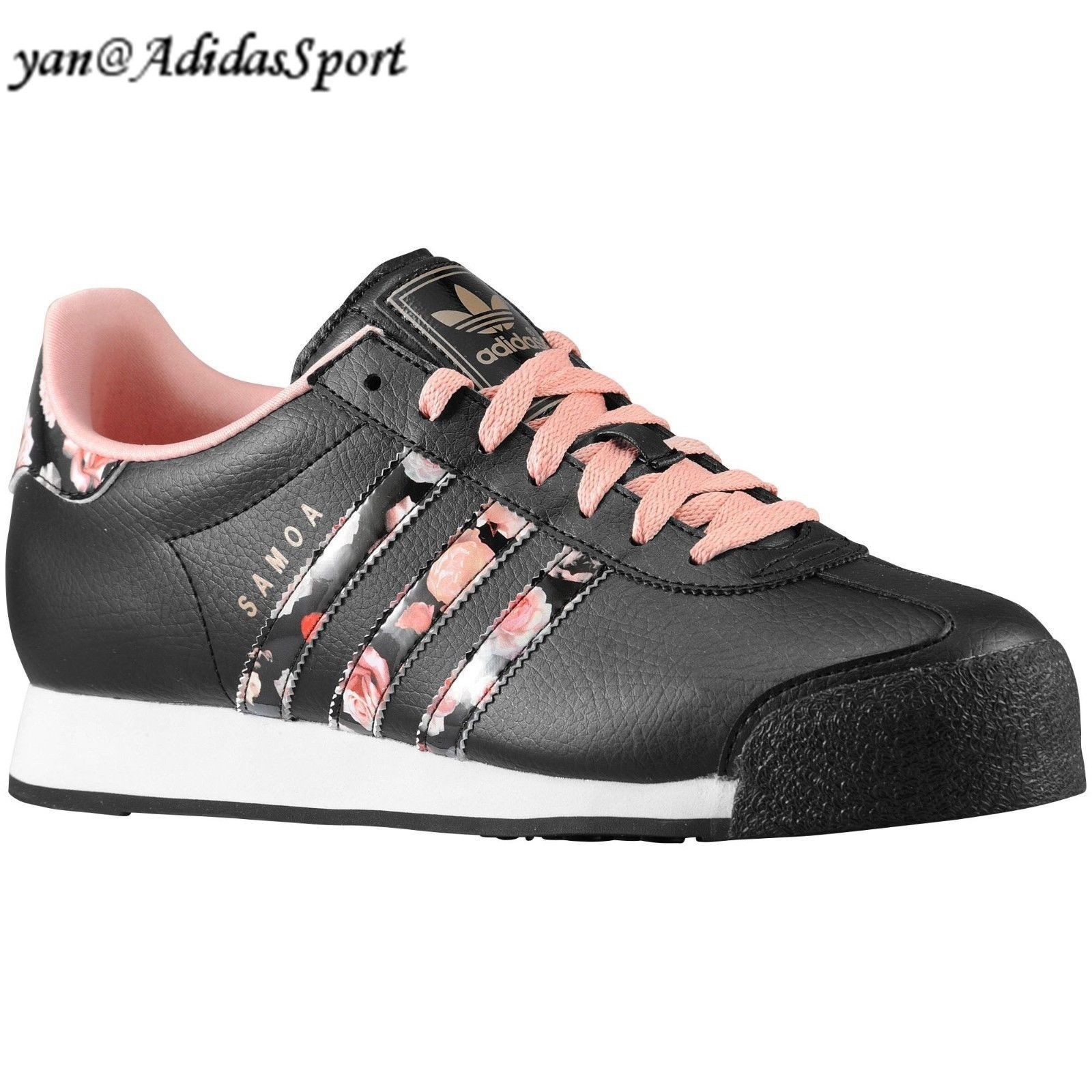 low priced 9fada d7b0e Encontrar Barato Adidas Originals Mujeres Samoa Flor Imprimir Retro  Zapatillas Negro Fundido Rose Blanco Comprar Madrid