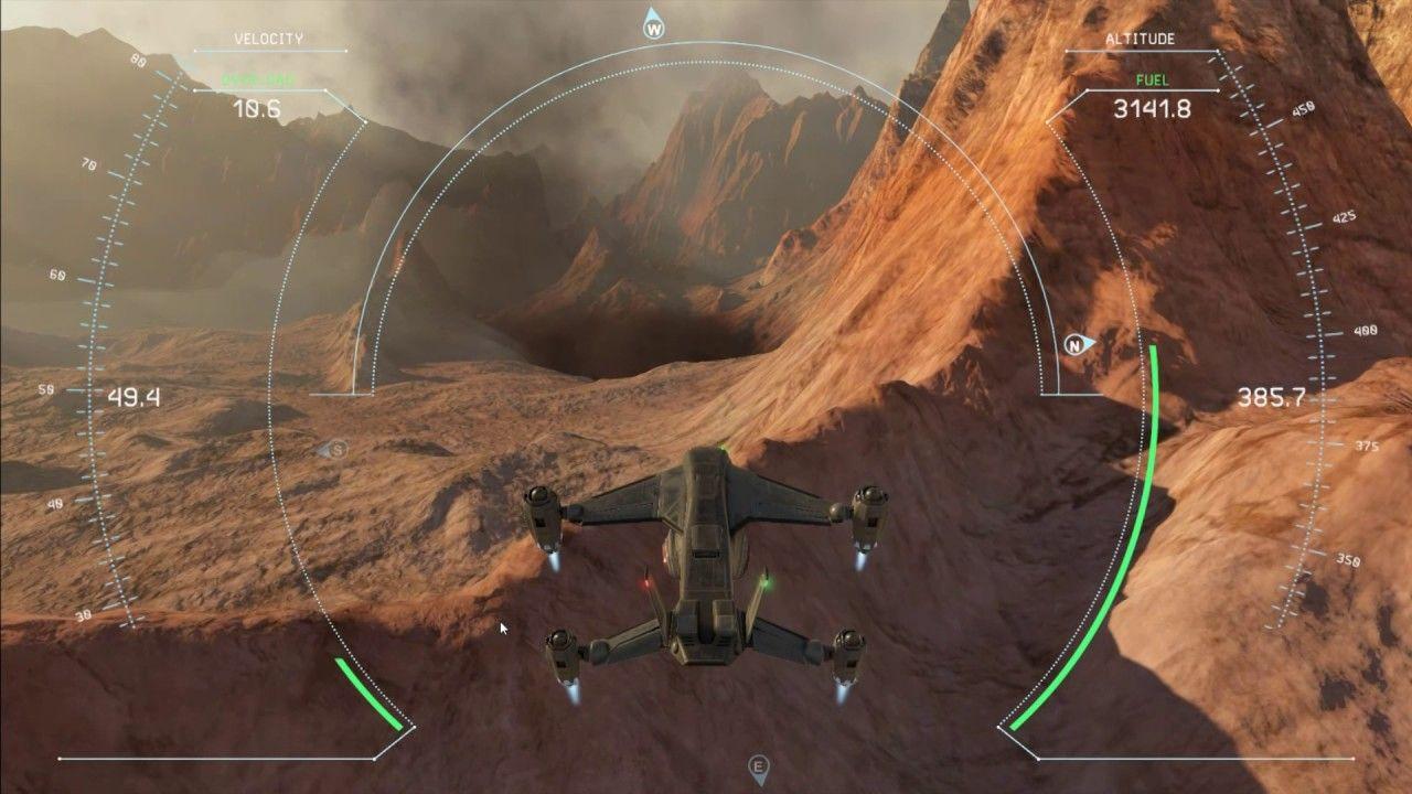 Combination of XPlane & StarCitizen Simulator Gameplay