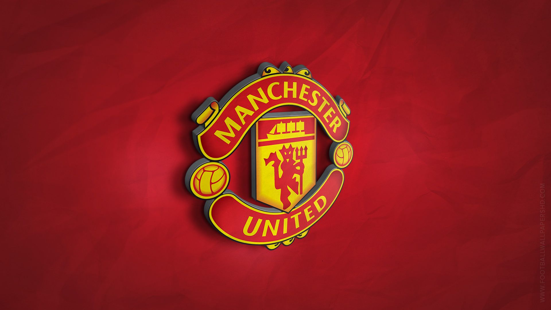 Manchester United 3D Logo Wallpaper