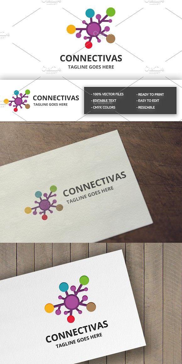 Connectivas Logo All the colors, Cmyk color, Print