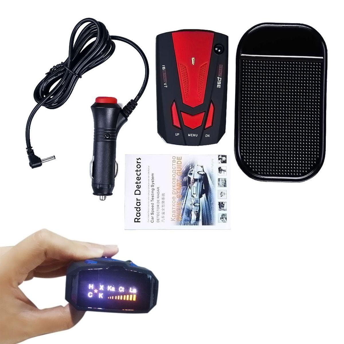 360 Degree Car 16 Band V7 Gps Speed Police Safe Laser Radar Detector Voice Alert Radar Detector Gps Detector