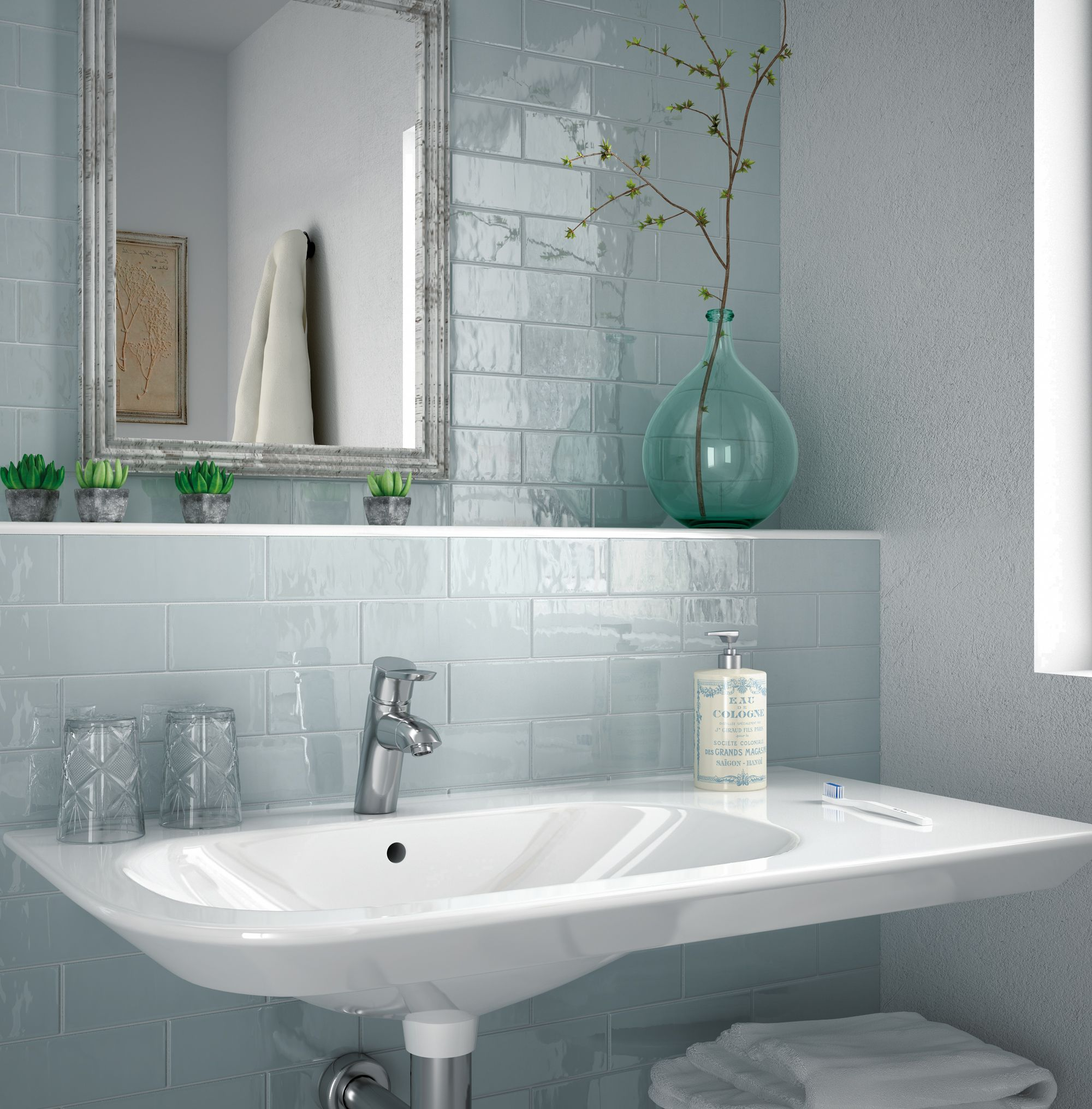 Provence Bathroom Tiles | Brick Shaped Wall Tiles | Pinterest ...
