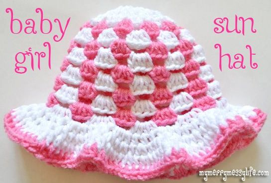 Free Granny Stitch Sun Hat Pattern for a Baby Girl – My Merry Messy Life