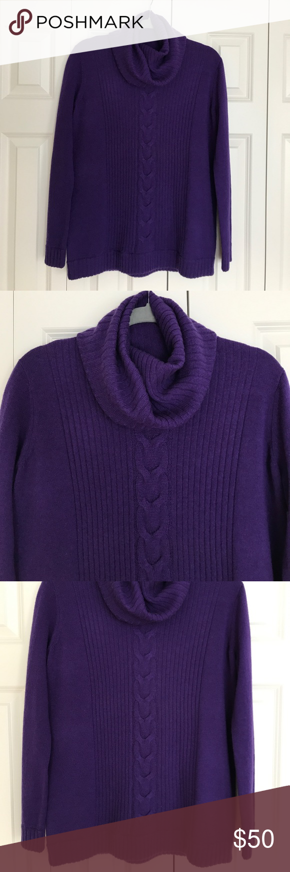 NWT TOBEY GREY PURPLE CASHMERE SWEATER NWT Tobey Grey Purple ...