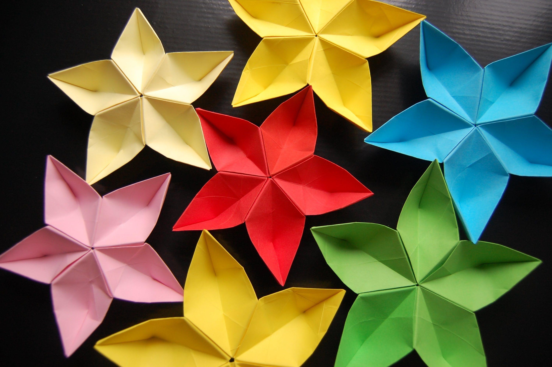 Origami Flower Sakura Easy Origami Flower Paper Origami Flowers Origami Easy