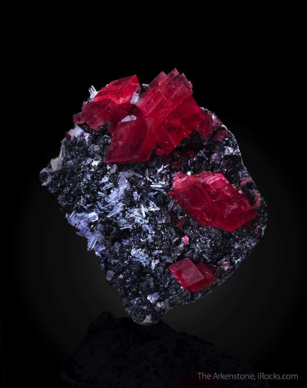 Rhodochrosite on Tetrahedrite Corner Pocket, Sweet Home Mine, Mount Bross, Alma District, Park Co., Colorado, USA