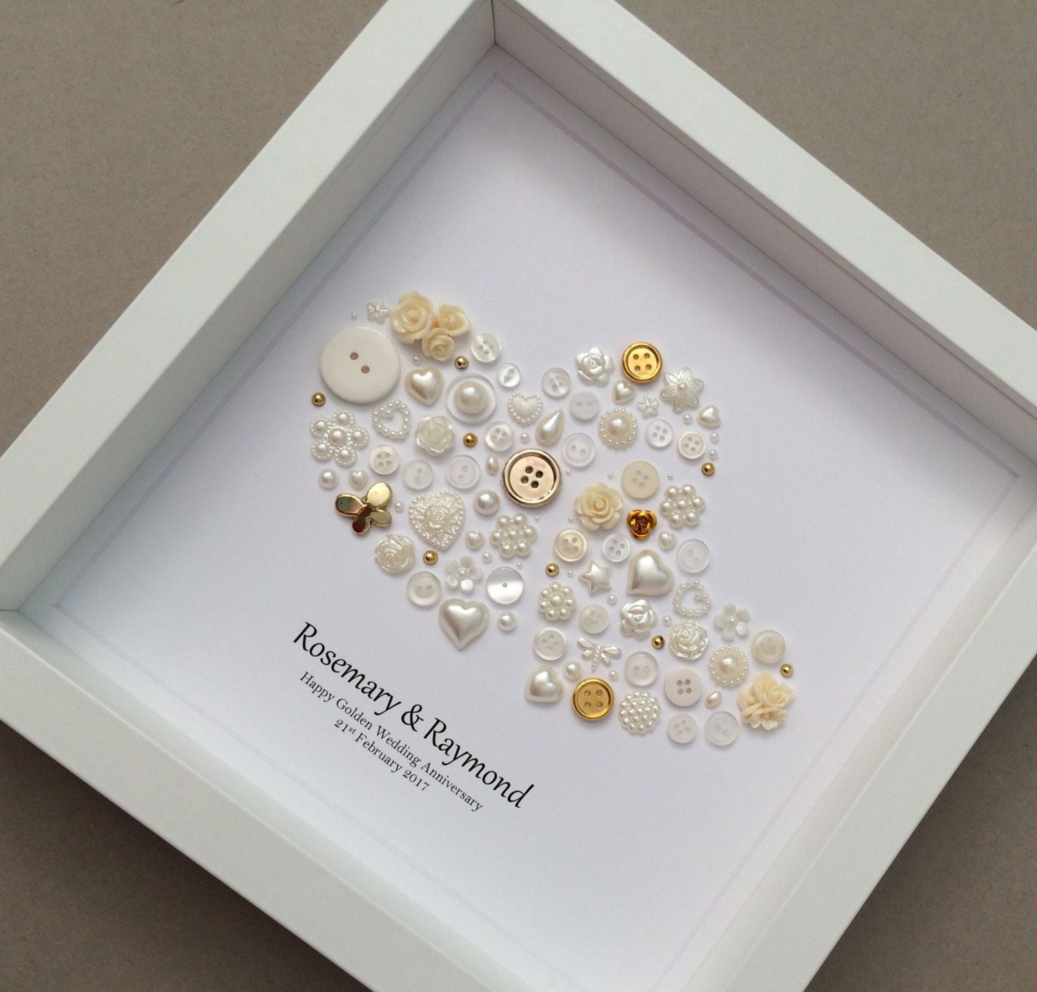Gifts For Grandparents 50th Wedding Anniversary: 50th Anniversary Gift, Golden Wedding Anniversary, Golden