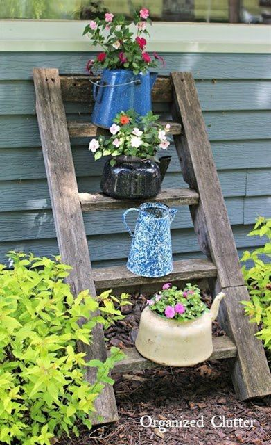 Vertical Interest To Your Flower Beds Containers Gardening Vintage Garden Decor Garden Backyard Landscaping