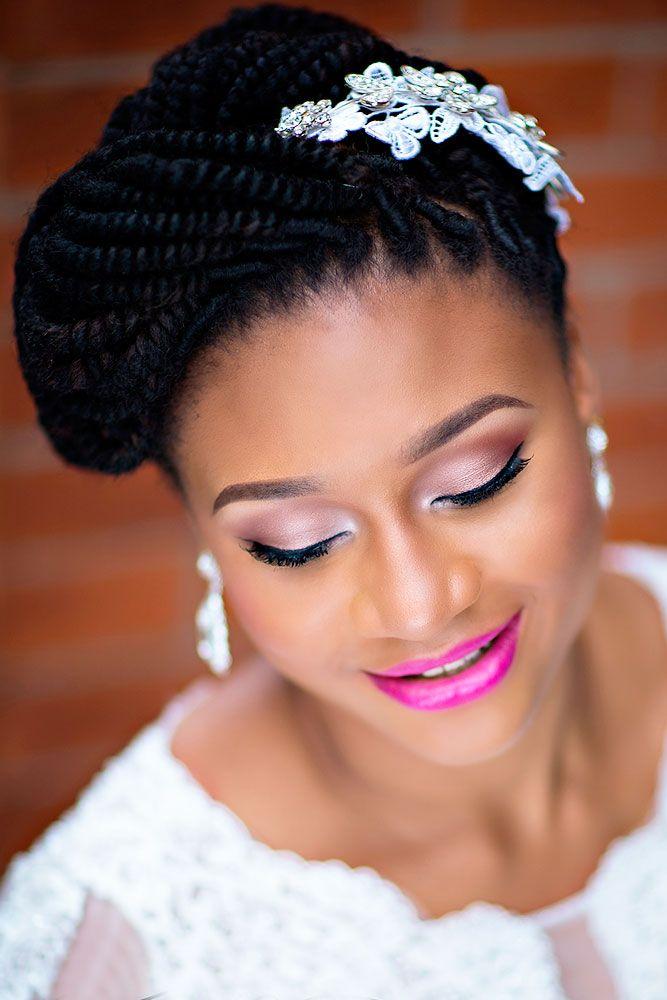 39 Black Women Wedding Hairstyles That Full Of Style ...