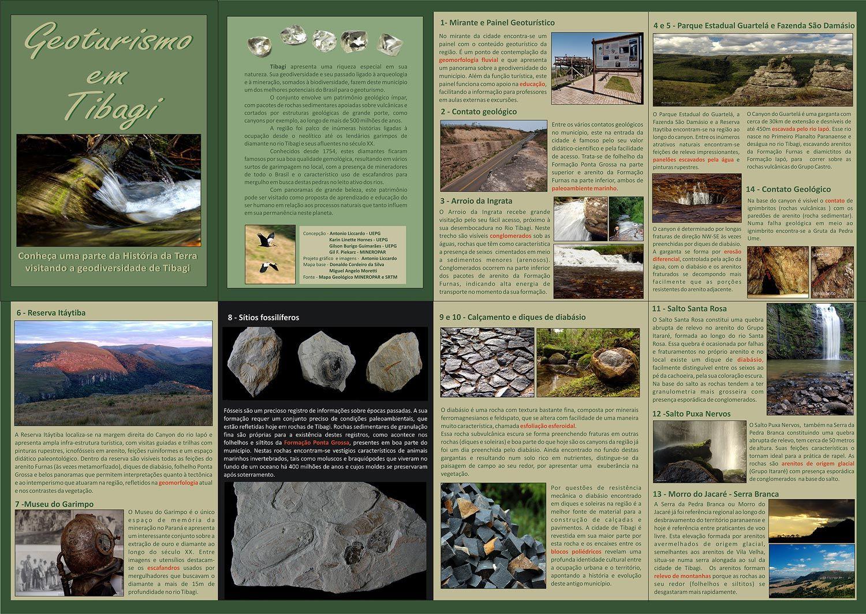 Folder Geoturismo Em Tibagi Parana No Informativo Estao
