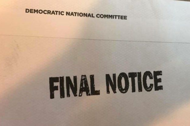 The Democratic National Committee Sent Fundraising Letters That Look