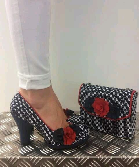 LADIES NEW RUBY SHOO EVA NAVY/RED SIZE 5 FAB! in Clothes, Shoes