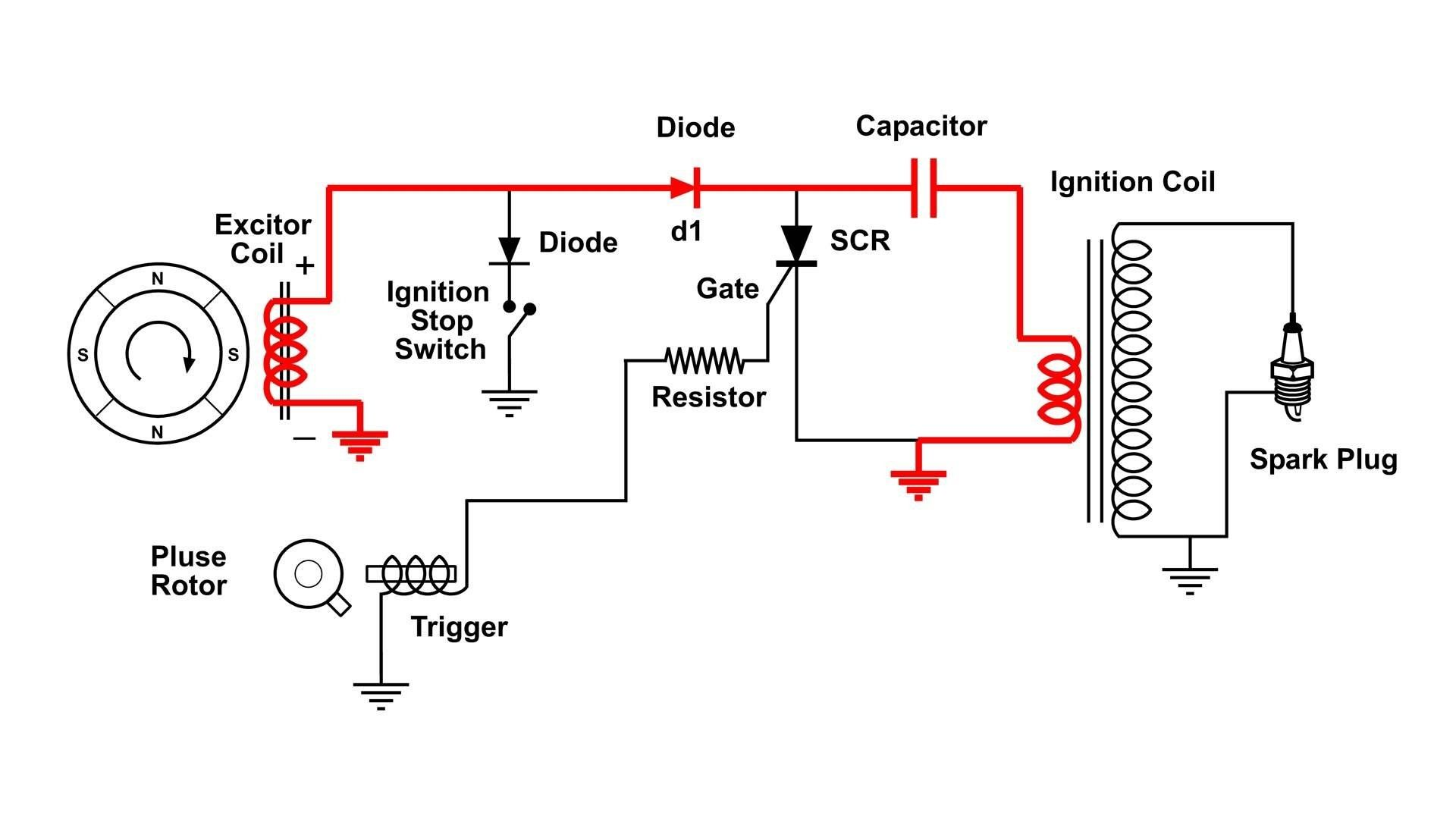 cdi capacitor discharge ignition circuit demo youtube inside motorcycle ignition coil wiring diagram [ 1920 x 1080 Pixel ]