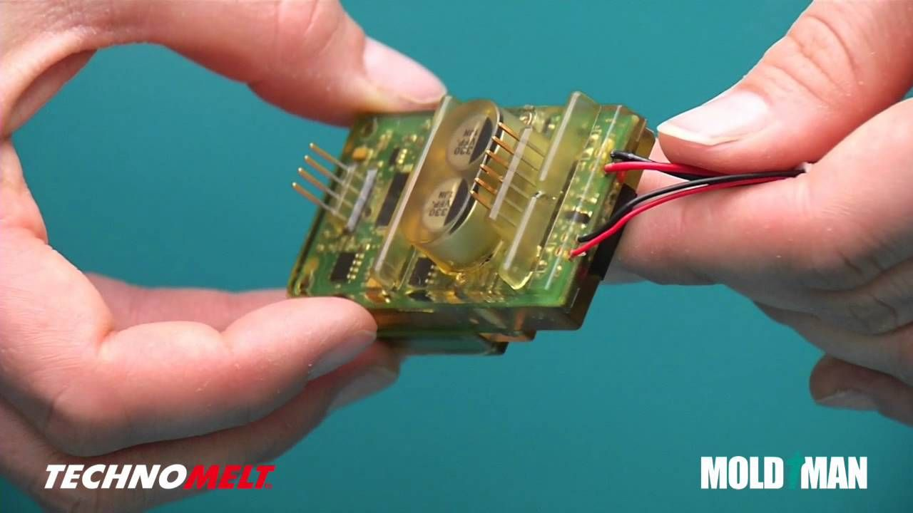 Low Pressure Molding Henkel Technomelt Cavist Mold Man Diy Lab Equipment How To Etch Your Own Circuit Boards Using A Laser Seal Electronics Pcbs