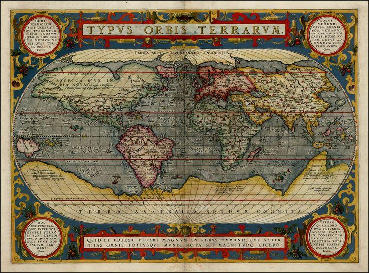 Ortelius Map, 1581