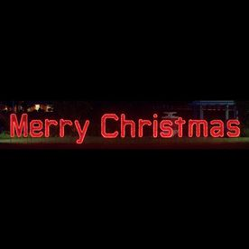 Holiday Lighting Specialists 3 9 Ft Merry Christmas Outdoor Christmas Decoration With Led Multicol Holiday Lights Outdoor Christmas Decorations Merry Christmas