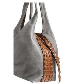 Chimpel Vicky Crocodile Leather Slouch Handbag Soft With Gusset