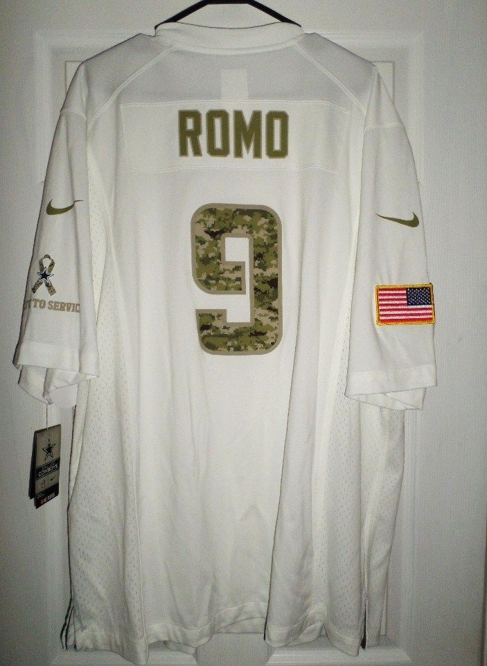 new style 9b5f3 2f8a8 Men's DALLAS COWBOYS ROMO #9 Salute To Service NIKE NFL ...