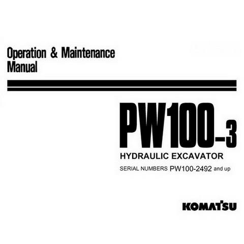 Komatsu PW100-3 Hydraulic Excavator Operation