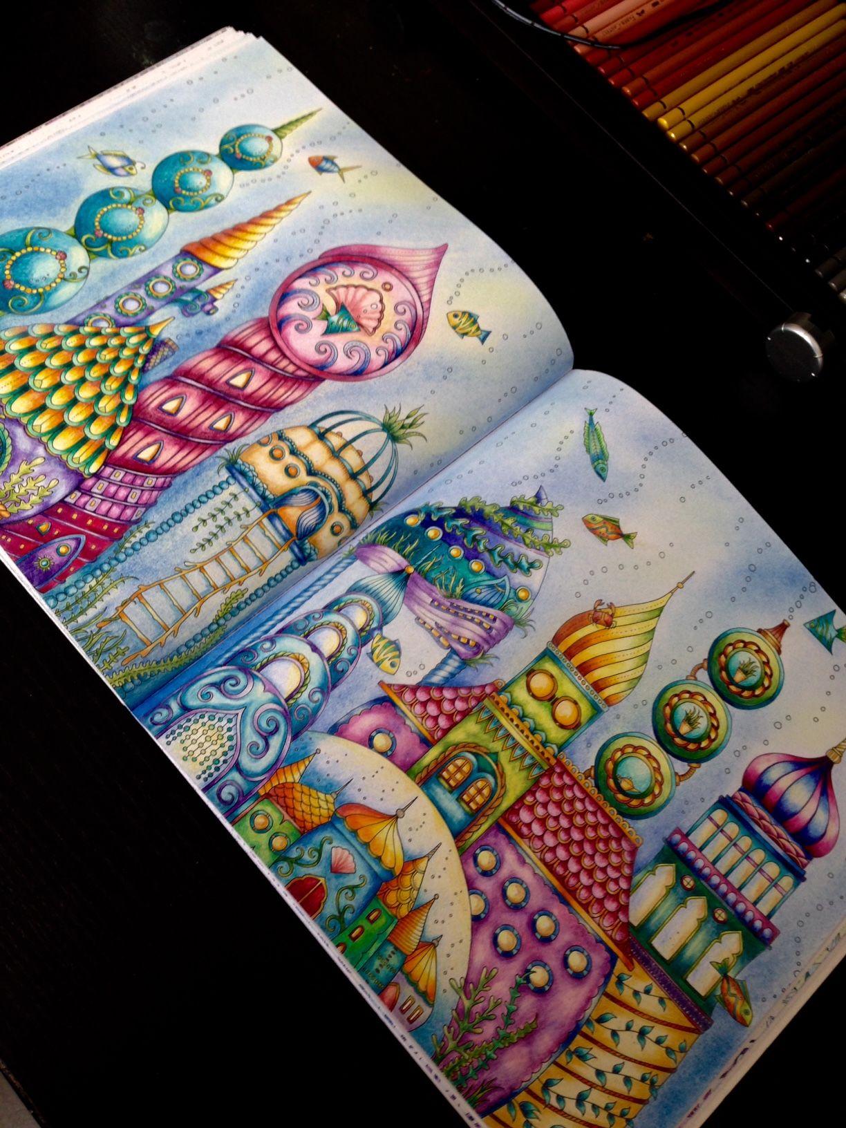 Lost Ocean Johanna Basford Inspiration Lost Ocean Coloring Book Johanna Basford Coloring Book Basford Coloring