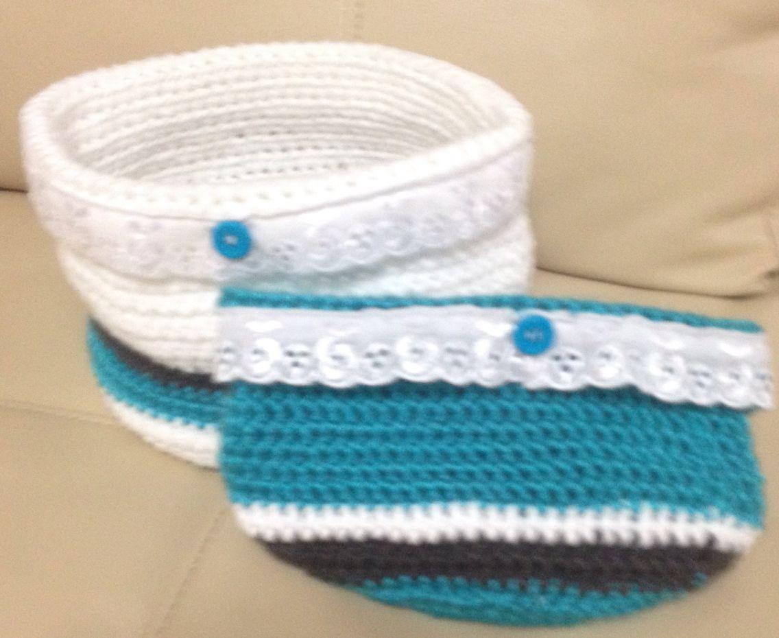 Organizadores para baños crochet