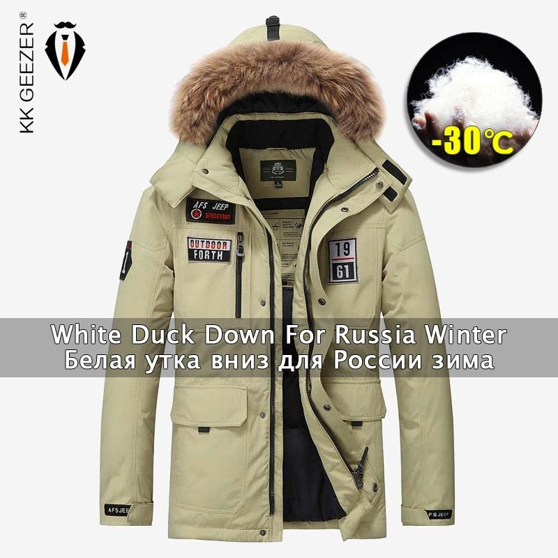 Winter Men/'s Down Cotton Jacket Warm Thick Padded Jackets Coat Fashion Outwear r