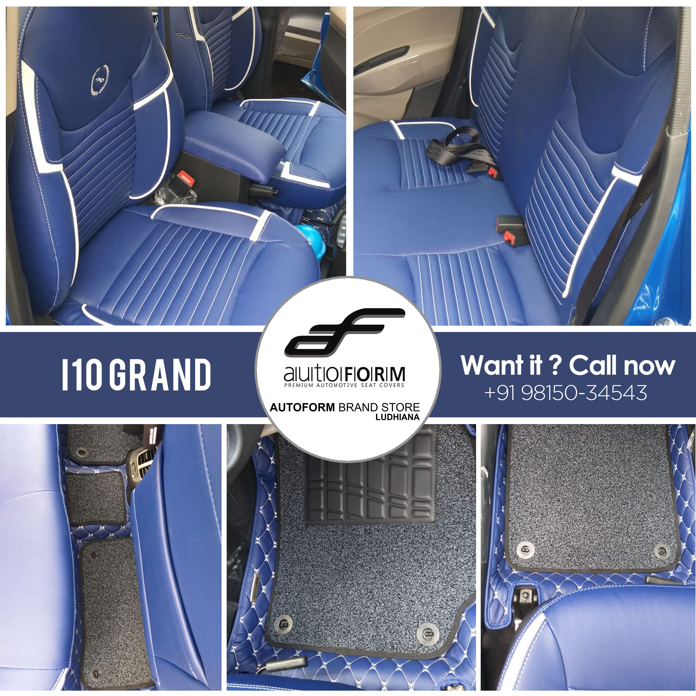 Hyundai I10 Grand In The Autoform Branded Seat Cover U Focus