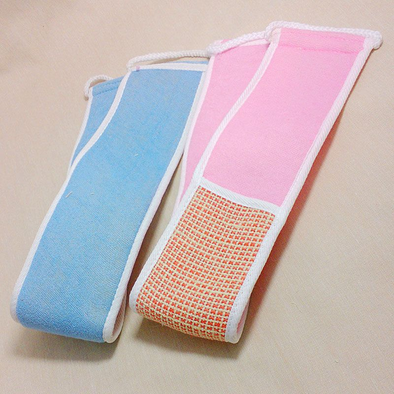 Random Color Body Skin Health Clean Exfoliating Flax Back Strap ...