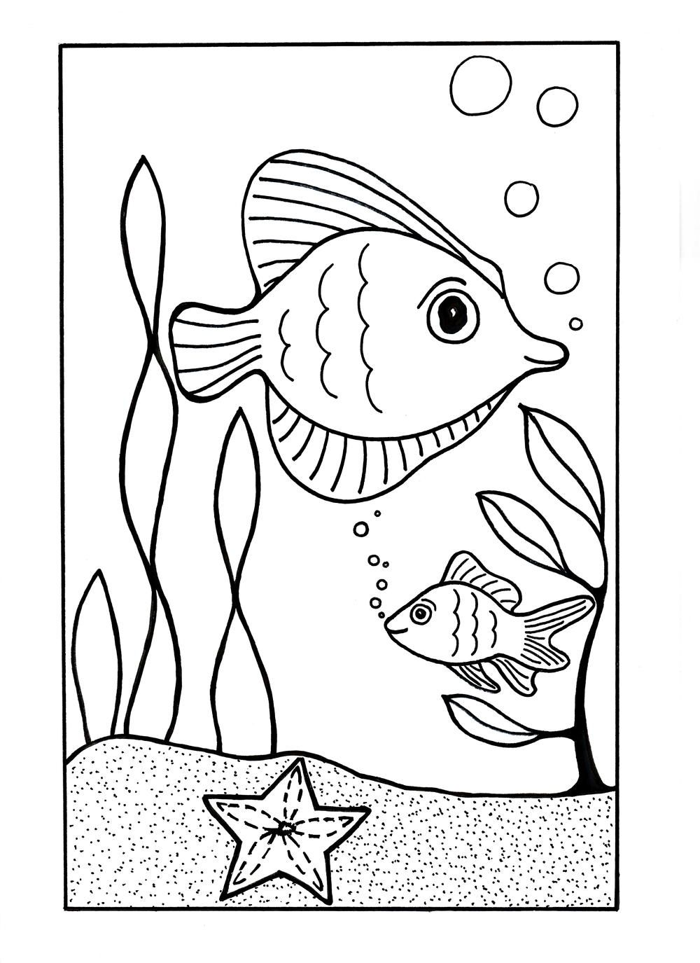 Under the Sea Coloring Page in 2018 | Coloring Pages | Pinterest ...