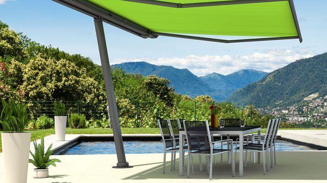 Store terrasse exterieur, store banne, protection soleil Pergolas - plan d une maison simple