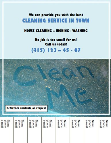 House Cleaning Flyers Free Free Cleaning Ads Business Card