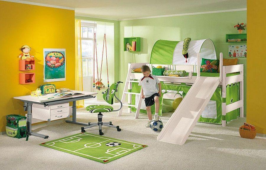 Kids Playroom Football Decor Ideas Kids bunk beds, Bunk
