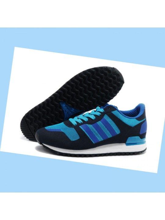 finest selection 29bf9 f4a9b Chaussures de course Adidas Originals ZX 700 Femme Sombre Bleu Marine  Bleu   Blanc fCPn0N